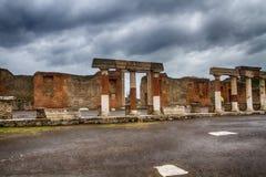 Ruines de Pompeii Italie image libre de droits