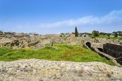 Ruines de Pompeii : site archéologique à la ville antique destrozed images libres de droits