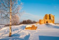 Ruines de règlement antique de Rurik Photographie stock