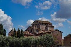 Ruines de Romain, Italie Images libres de droits
