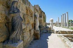 Ruines de Romains de la ville des salamis, près de Famagusta, la Chypre du nord Photographie stock