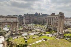 Ruines de romano de Foro Photos stock