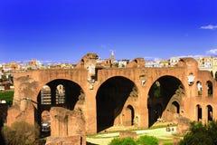 Ruines de Rome antique Photos libres de droits