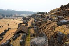 Ruines de Sacsayhuaman au Pérou images stock