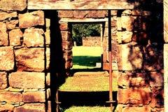 Ruines de San Ignacio, Misiones, Argentine Image libre de droits