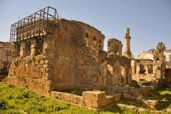 Ruines de site historique de Kesik Minare à Antalya, Turquie Photo libre de droits