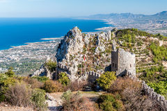 Ruines de St Hilarion Castle Secteur de Kyrenia, Chypre Photo stock