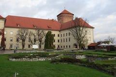 Ruines de St Michaels Chapel au château de Wawel images stock