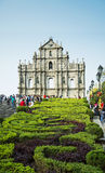 Ruines de St Paul dans la porcelaine de Macao Photographie stock libre de droits