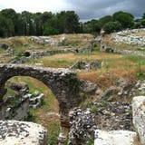 Ruines de stade à Syracuse Image stock