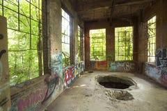 Ruines de station électrique sur la rivière de Hockanum à Manchester, le Connecticut Photo libre de droits