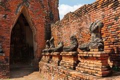 Ruines de statue de Bouddha Image libre de droits