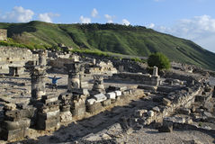 Ruines de Susita, Golan Heights, hippopotames Photographie stock