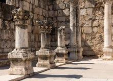 Ruines de synagogue antique Capernaum - en Israël Photographie stock libre de droits