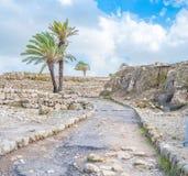 Ruines de téléphone Megiddo Image stock