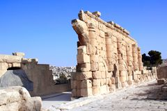 Ruines de temple antique dans Jerash, Jordanie photographie stock