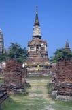 Ruines de temple, Ayutthaya (Thaïlande) Photo libre de droits