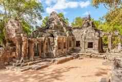 Ruines de temple de Banteay Kdei au complexe d'Angkor Vat au Cambodge Photos stock