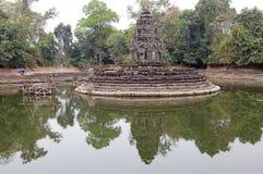 Ruines de temple de Neak Pean Photographie stock