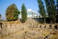 Ruines de temple indou, Avantipur, Kashmir, Inde Image libre de droits