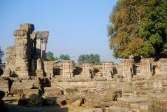 Ruines de temple indou, Avantipur, Kashmir, Inde Photos libres de droits