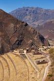 Ruines de terrasse d'Inca Photographie stock libre de droits