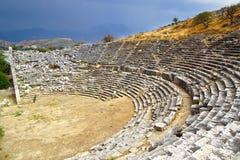 Ruines de théâtre antique dans Letoon Photos libres de droits