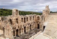 Ruines de théâtre du grec ancien Images libres de droits