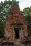 Ruines de tour de temple, Prasat Preah Ko, Roluos, Cambodge Vers le 9ème siècle en retard Photos libres de droits