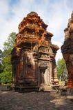 Ruines de tour de temple, Prasat Preah Ko, Roluos, Cambodge Vers le 9ème siècle en retard Image stock