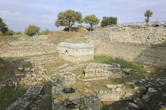 Ruines de Troie Images stock