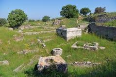 Ruines de troy antiques photographie stock libre de droits