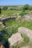 Ruines de troy antiques Photo stock
