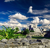 Ruines de Tulum dans le monde de Maya près de Cancun Photo libre de droits