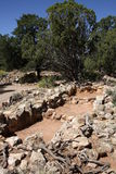 Ruines de Tusayan à la gorge grande Images stock