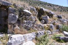 Ruines de vieil amphithéâtre grec Photo libre de droits
