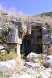 Ruines de vieil amphithéâtre grec Images stock