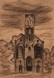 Vieille église illustration de vecteur