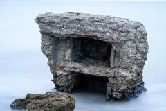Ruines de vieille Chambre de brique Casernes construisant en mer baltique Photos libres de droits