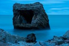 Ruines de vieille Chambre de brique Casernes construisant en mer baltique Images libres de droits