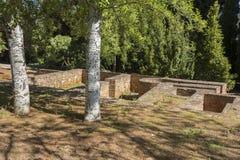 Ruines de vieux bâtiments en parc Image stock