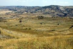 Ruines de vieux Hattusa capital hittite Images stock