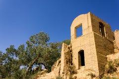 Ruines de village de Kharanagh, Iran Photographie stock libre de droits