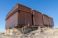 Ruines de ville allemande une fois prospère Kolmanskop d'exploitation dans le désert de Namib près de Luderitz, Namibie, Afrique  photo stock