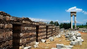 Ruines de ville antique Anjar, Bekaa Valley Liban Photos libres de droits