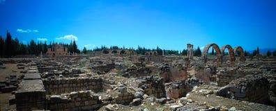 Ruines de ville antique Anjar, Bekaa Valley Liban Image libre de droits
