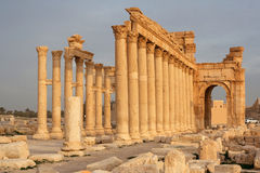 Ruines de ville antique de Palmyra - Syrie Photos libres de droits