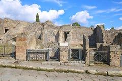 Ruines de ville antique Pompeii images libres de droits