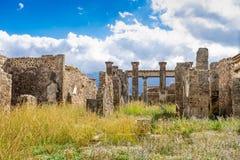 Ruines de ville antique de Pompeii près de volcan Vizuvius, Pompéi, Naples photographie stock