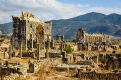 Ruines de Volubilis, Meknes, Maroc photo libre de droits